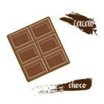 板チョコ チョコレート 無料イラスト
